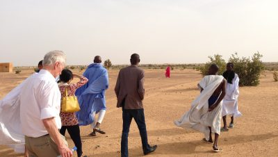 Philip Alston conducting a site visit in Mauritania