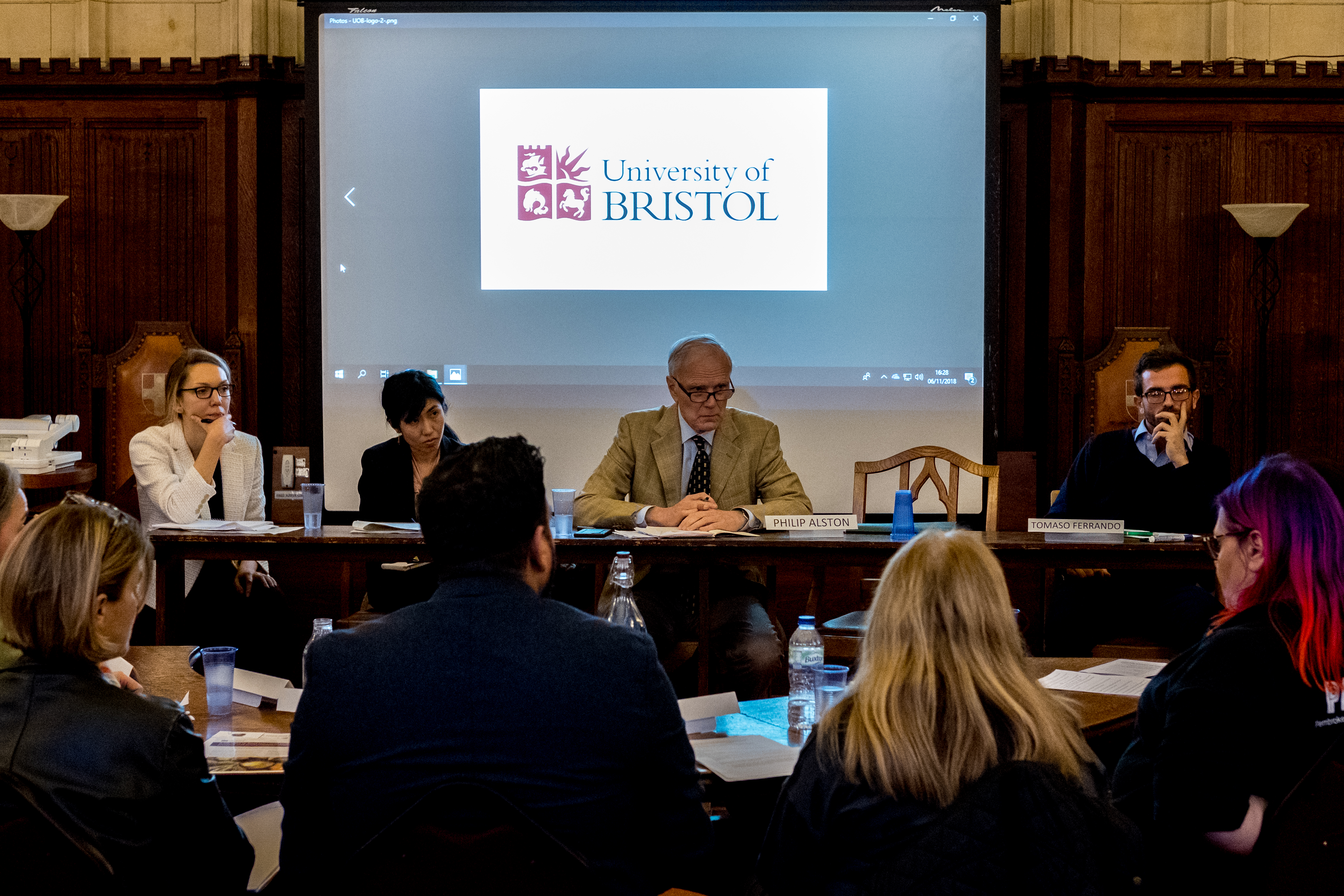 The Special Rapporteur hears from experts on rural poverty in Bristol - C Bassam Khawaja 2018