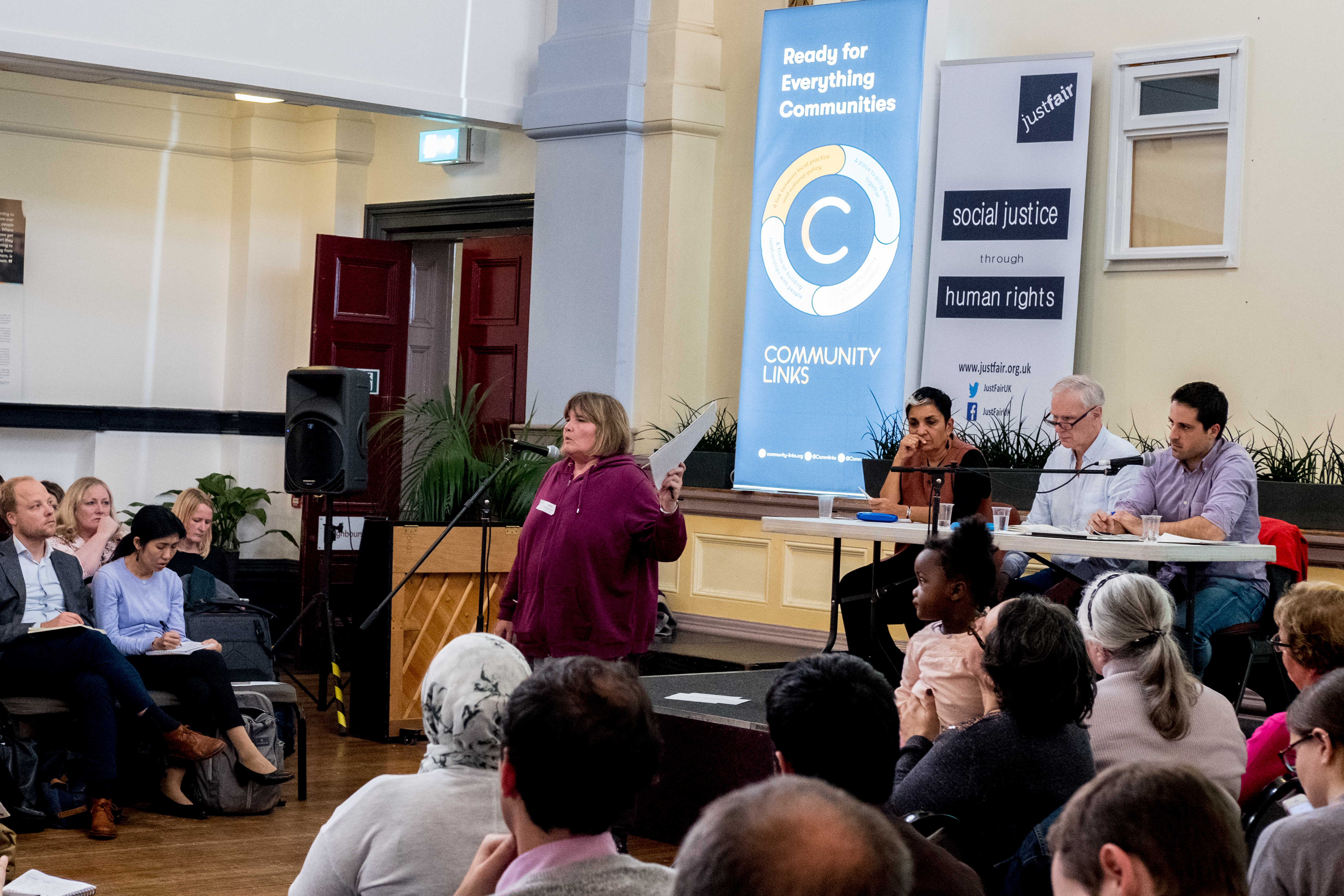 The Special Rapporteur hears from people affected by poverty in Newham - C Bassam Khawaja 2018