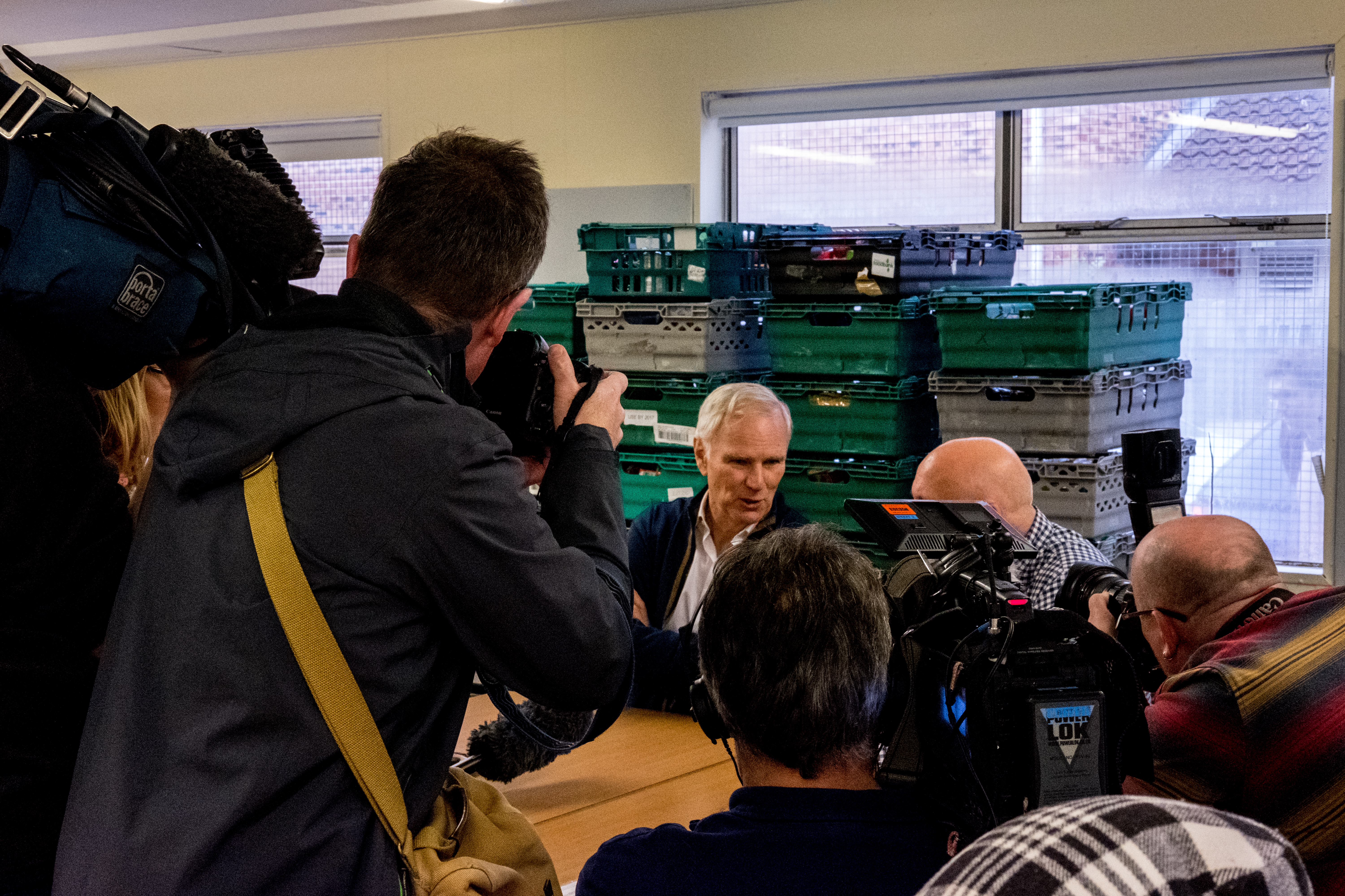 The Special Rapporteur visits a foodbank in Newcastle - C Bassam Khawaja 2018